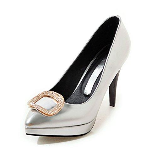 La version coréenne de chaussures légères de printemps point/Côté boucle strass talons aiguilles/Chaussures B