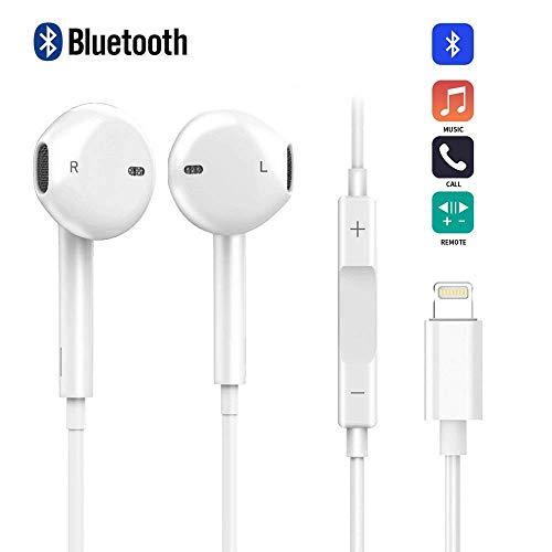 In Ear Kopfhörer, Kopfhörer Noise Isolation Heavy Bass Headsets mit Kabel und Mikrofon Fernbedienung Stereo Kompatibel mit iPhone 7 / 7 Plus / 8 / 8 Plus / X (Bluetooth Konnektivität)