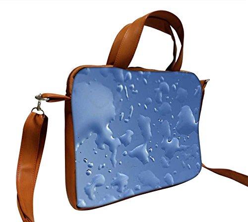 4020 Notebook (Snoogg blau Tropfen Hintergrund gkbhvjyd 43,2cm Zoll auf 44,5cm Zoll auf 44,7cm Zoll Kunstleder Laptop Notebook Schuber Sleeve, der Fall mit und Schultergurt für MacBook Pro Acer Asus Dell HP Sony Toshiba)