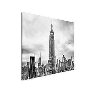 50x70cm Leinwandbild schwarz weiß in Topqualität New York -city Manschetten Gebäude