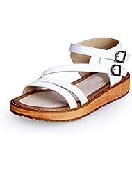 Las mujeres tiras plataforma de la moda sandalias planas Boucle