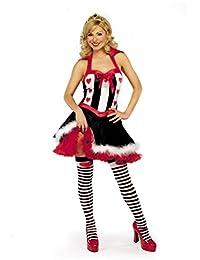 Mix lot Womens Fräulein Queen of Hearts Erwachsene Kostüm Vorder Ladies Outfit Größen 36-38 / 40-42 / 44/46