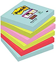 Post-It Super Sticky Notes Miami Collection 6546Smi Zelfklevende Notitieblaadjes, À 90 Vellen In 4 Kleuren, Tu