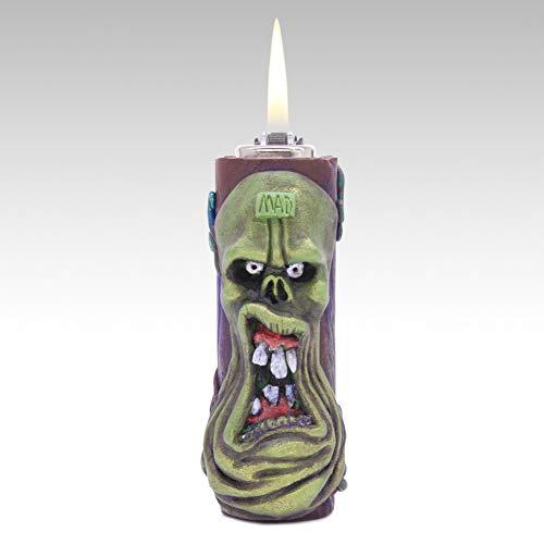 Grün Monster Leichtere Kreativ Persönlichkeit Rad Feuerstein und stahl Porenbeton] Feuer maschine Freund senden Halloween Geschenk-A