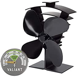 Valiant Premium IV Ventilateur de poêle et thermomètre magnétique