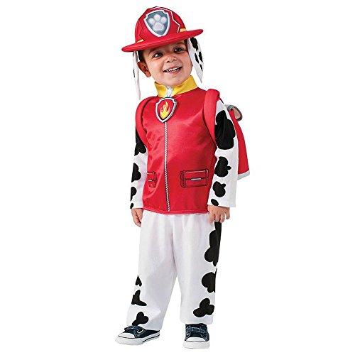 Paw Patrol Kinder Kostüm Feuerwehrmann Hund Marshall Gr.2 bis 3 (Feuerwehrmann Kostüm Hund)
