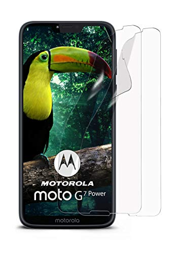 moex 2X Motorola Moto G7 Power | Schutzfolie Klar Bildschirm Schutz [Crystal-Clear] Screen Protector Display Handy-Folie Dünn Bildschirmschutz-Folie für Motorola Moto G7 Power Bildschirmfolie