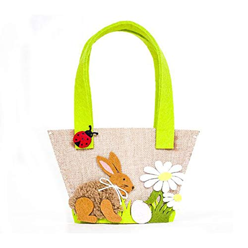 Nordic Stoff Bunny Tote Bag Süßigkeiten Korb Geschenk Tasche Ostern Dekoration (B) ()