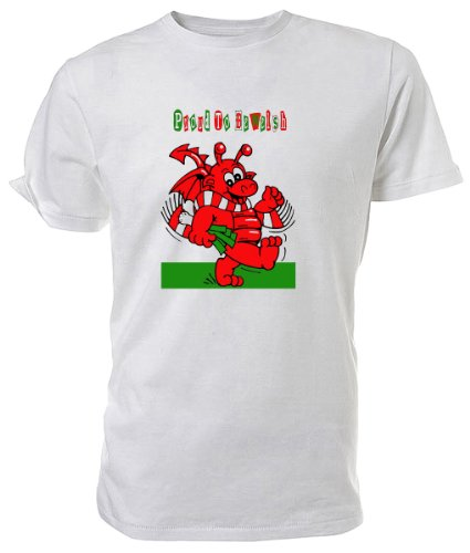 Kleinkinder Walisischer Drache T Shirt, Proud To Be Welsh (Kleinkinder Rugby-shirts)