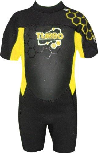 TWF - Traje para deportes acuáticos, color amarillo, talla UK: 1-2 años