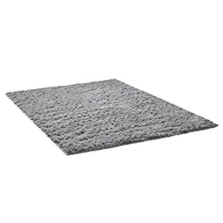 THEE Shaggy Fluffy Rugs Anti-Skid Area Rug Dining Room Carpet Bedroom Floor Mat