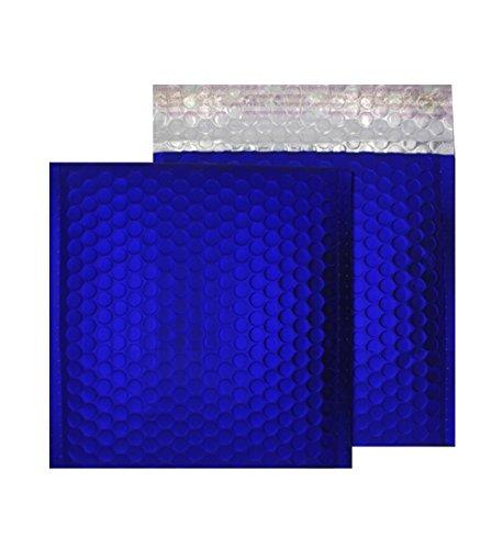 Cd Gepolsterte Mailer (Purely Haftklebetaschen, CD-Format, 165 x 165 mm, haftklebend, Metallic Matt, Gepolsterte Versandtasche, Neon, blau, 100 Stück)