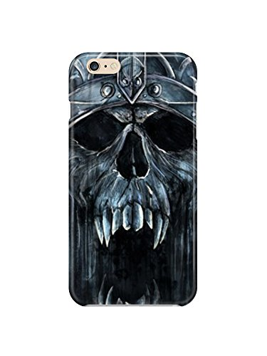 i6ps 0499Skull King Glossy Coque Étui Case Cover For iPhone 6Plus (5.5)