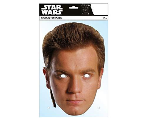 empireposter Star Wars - Obi Wan Kenobi Papp Maske aus hochwertigem Glanzkarton mit Augenlöchern, Gummiband - Größe ca. 30x21 cm - Pappmaske, Prominentenmaske, Funmaske, Tiermaske