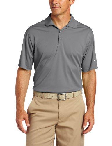 Solid Tech T-shirt (Nike Tech Solid Golf Polo Shirt Logo Sleeve, Herren, grau, Small)