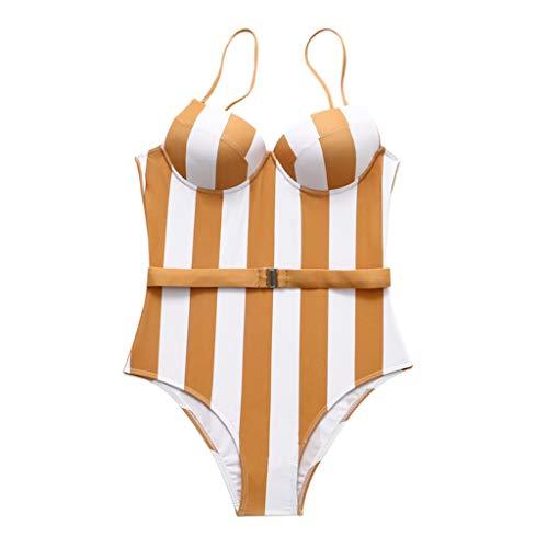 VEMOW Heißer Bikinis Set Rüschen Elegante Damen Feste Bandage Urlaub Tankini Set Brasilianische...