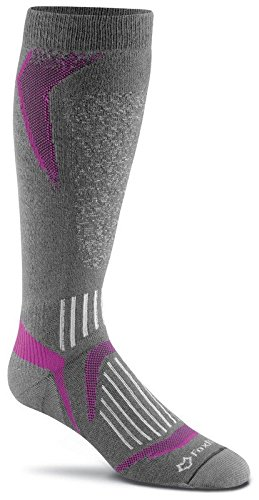 Fox River Bromley leicht over-the-calf non-wool Socken, unisex, anthrazit (Fox Wool Socks)
