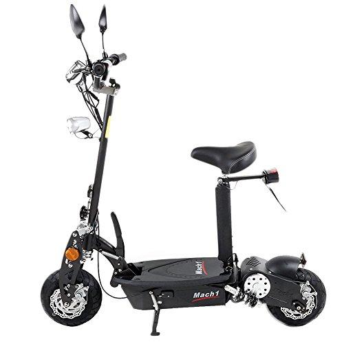 MACH1® Elektro E-Scooter mit EU Strassenzulassung 20Km/h Mofa Modell-2 EEC 36V/500W (Es besteht keine Helmpflicht für diesen Scooter) (1x 36V-14Ah Original Akkus) - 2