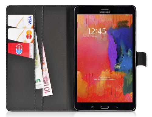 DONZO Wallet Washed Tablet Tasche für Samsung Galaxy Tab Pro 8.4 T320 T325 Weiß - 3