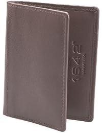 1642 Porte-carte de crédit en cuir Style 5017_17 marron