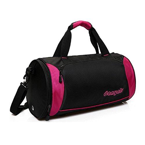 Portatile borsetta bagaglio Sacchetto del messaggero Cilindro cerniera Borsa a tracolla , pink Pink