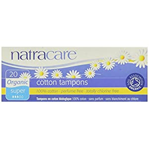 Natracare Bio alle Baumwolle non-applicator Tampons Super–2x 20Stück (40Tampons)