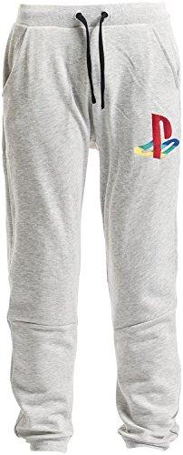 playstation-classic-logo-pantalon-survetement-gris-clair-m