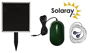Solar Aerator / Oxygenator 2 Stone for Small To Medium Ponds by Solaray
