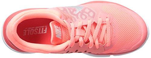 Nike Damen Wmns Flex 2015 Rn Laufschuhe Naranja (Lv Glw / Mtllc Slvr-Brght Crmsn)