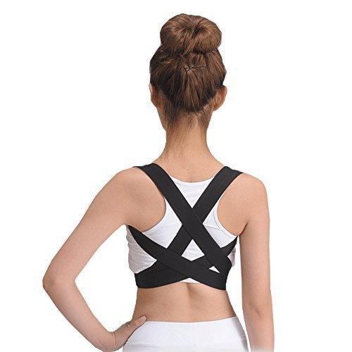 OBER-elastische Rückseite Schulter Bandage Haltung Corrector Orthese Kyphosis Slouch gewöhnlichen Hunchback Gürtel