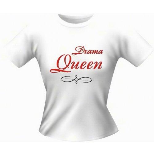 Witziges Sprüche Fun Damen T-Shirt : Drama Queen (Größe: XL)