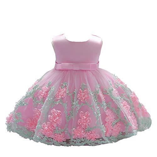 dedb9f555be8 LZH Vestito da Ragazza per Bambina Abito da Battesimo da Principessa per  Matrimoni Sposa Compleanno
