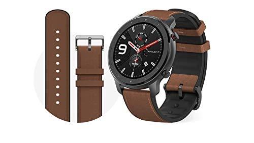 Xiaomi Amazfit GTR 47mm Smartwatch alluminiocase, brownes Braccialetto