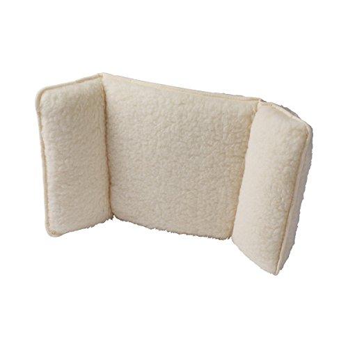 K&N Schurwolle Schurwoll-Sesselkissen, Rückenschonendes Sitzkissen aus Schurwolle mit weicher...