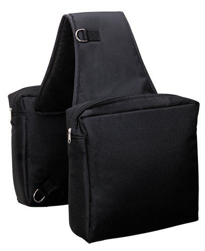 Weaver Leder Robuste Nylon-Satteltasche, schwarz
