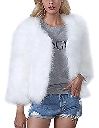 buy online 0dc1c 9a7da Amazon.it: Giacca Pelo Donna - Bianco / Giacche e cappotti ...