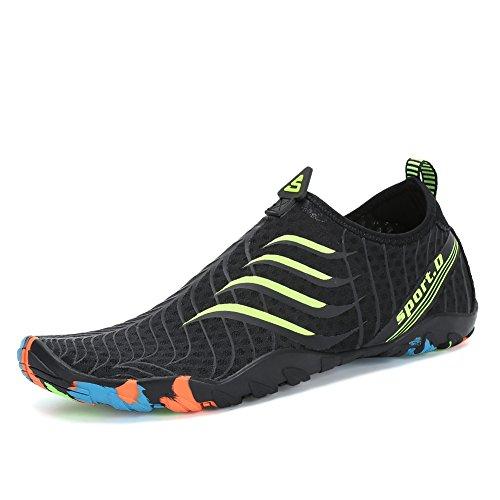 Voovix Zapatos Ligeros de Agua para Hombre (Negro,EU39)