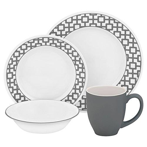 corelle-vitrelle-glass-urban-grid-chip-and-break-resistant-dinner-set-set-of-16-grey