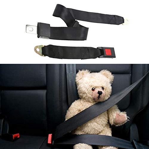 OneMoreT Universal 2-Punkt-Sicherheitsgurt, verstellbar, Polyestergewebe, für Auto/LKW, Auto Lap Extender Strap Sicherheitsgurte, Schwarz