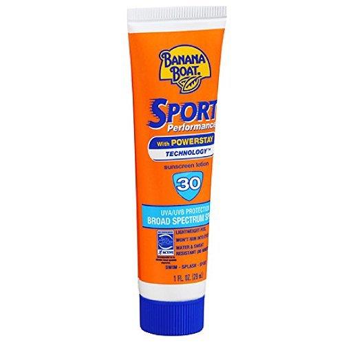 Banana Boat Sport Performance Sunscreen Lotion SPF 30, 1fl.-Ounce Tubes by Banana Boat