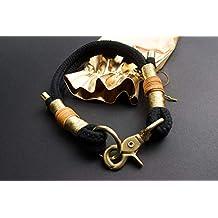 Hundeleine in Gold mit goldenen Endkappen Luxus Edition Scherenkarabinern und feinem Goldgarn