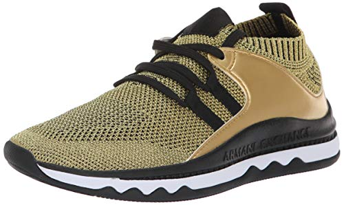 ARMANI EXCHANGE Low-Top Sneaker Scarpe da Ginnastica Basse Donna, Argento (Silver/Black K483) 38.5 EU