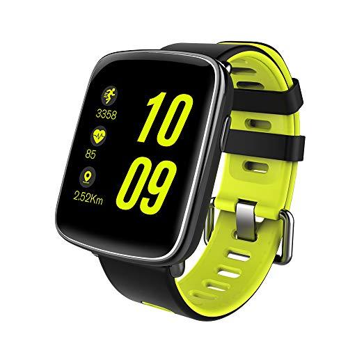 NinJaSun wasserdichte Uhr für Smartwatches, Musik, Gesundheits- und Fitnesssportarten, kompatibel mit Android und IOS,Green