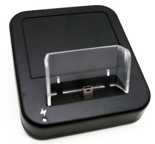 Original Trendline24 Docking / Hotsync / Ladestation für HTC Touch Pro / Raphael/ O2 XDA Diamond Pro -inkl. USB-Kabel / 220V Netzteil & samtweichem Zubehör Transportbeutel
