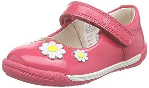 Clarks Softly Jam Fst, Chaussures Bébé marche Mixte bébé - Rose (coral Patent), 22.5 EU