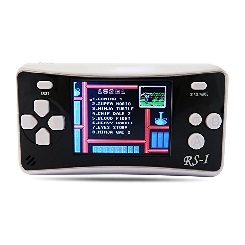"QINGSHE 2.5"" LCD 8-Bit 152 x Video Games Classic Portable Handheld Game Console-Black"