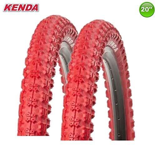 2 x Kenda K-51 Fahrrad BMX - Reifen Mantel Decke Rot 20 x 2.25-58-406 - Rot-bmx-fahrrad-reifen