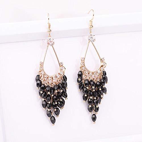 Bohemian Jewelry Crystal Long Tassel Earrings Trinkets Ladies, Girls, Wedding Brides, Valentine's Day, Gifts