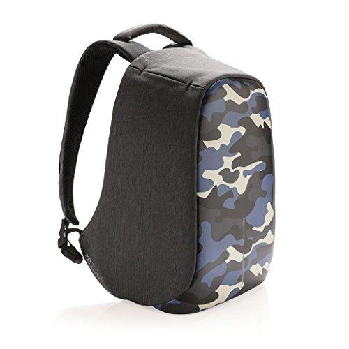 XD Design Bobby Compact Print Zaino Anti Taccheggio Camouflage Blu con USB