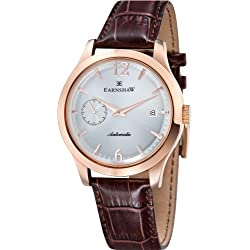 Thomas Earnshaw Men's Automatic Watch with Grey Dial Analogue Display and Brown Leather Strap ES-8034-05